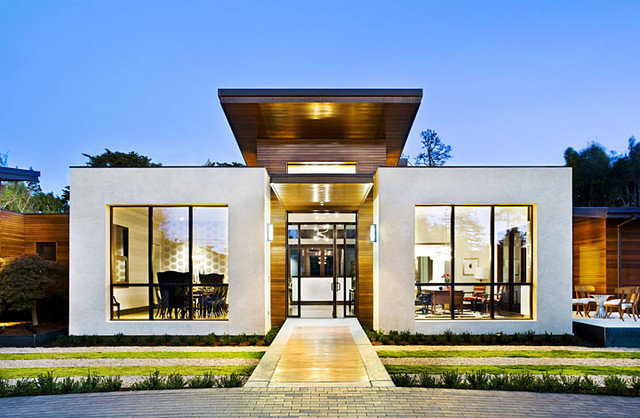 Stucco smooths modern home exteriors Modern home exteriors photos