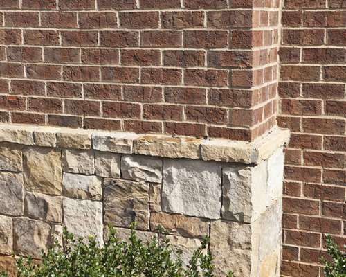 Mix brick and stone houzz for Brick stone combinations