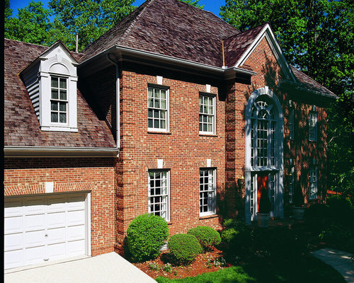 Brick georgian home design ideas pictures remodel and decor for Brick georgian homes