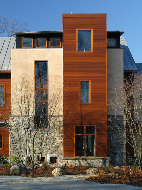 Inspiration For A Modern Stucco Exterior Home Remodel In DC Metro