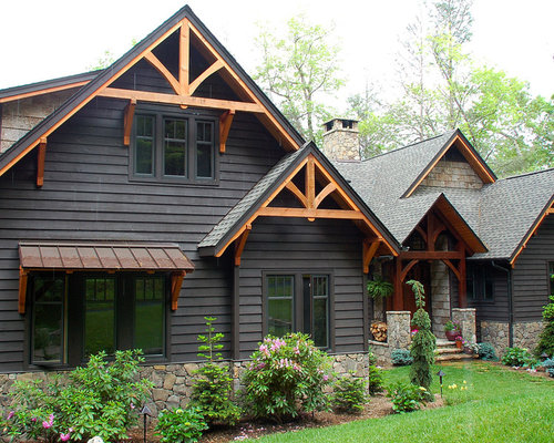 Cedar accents on the exterior houzz Gable accents