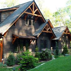 Rustic Exterior by Koenig Homebuilders