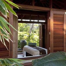Tropical Exterior by Philpotts Interiors