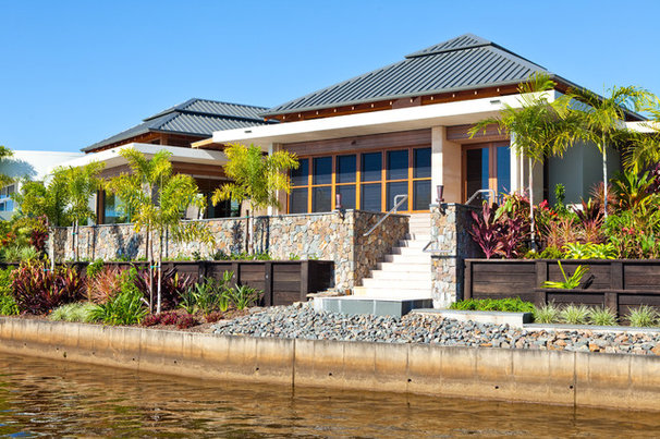 Tropical Exterior by Tim Ditchfield Architects
