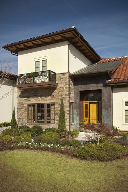 Mediterranean Exterior by Tongue & Groove