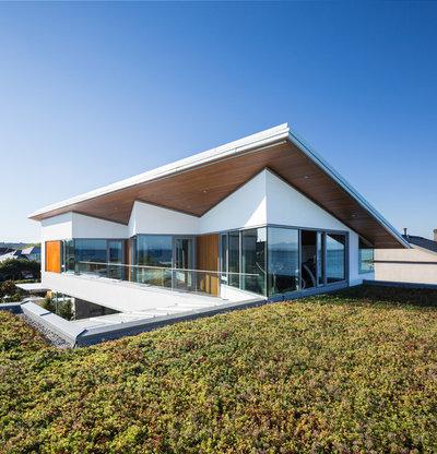 コンテンポラリー 家の外観 by Frits de Vries Architect Ltd.