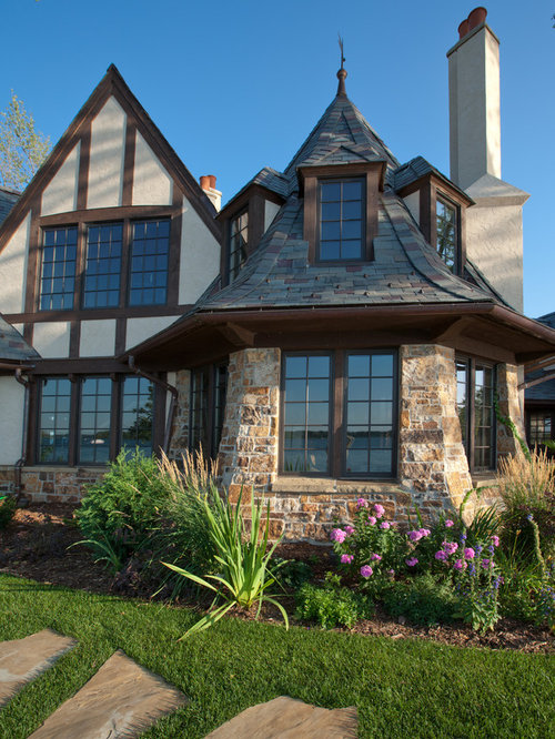 Inspiration for a timeless stone exterior home remodel in Minneapolis