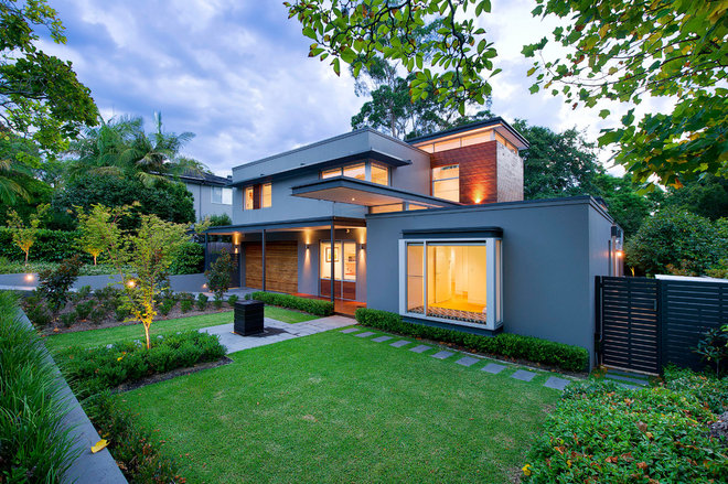 Contemporary Exterior by Art in Green