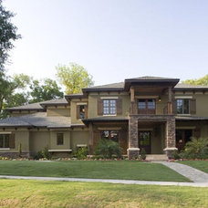 Traditional Exterior by PSG Construction