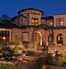 mediterranean exterior by Deep River Partners