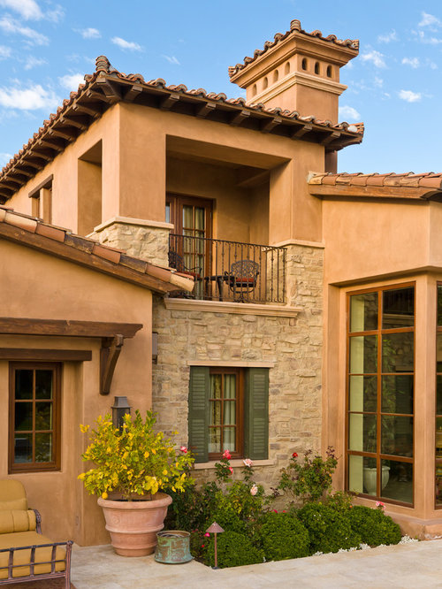 Stone and stucco facade home design ideas pictures for Stucco facade