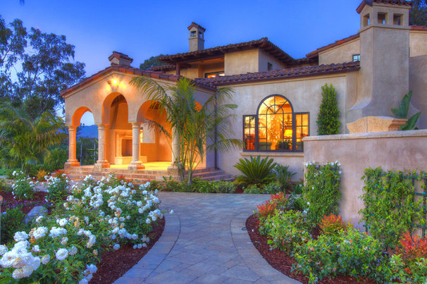Mediterranean Exterior by Architect Mark D. Lyon, Inc.