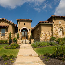 Mediterranean Exterior by Jim Boles Custom Homes