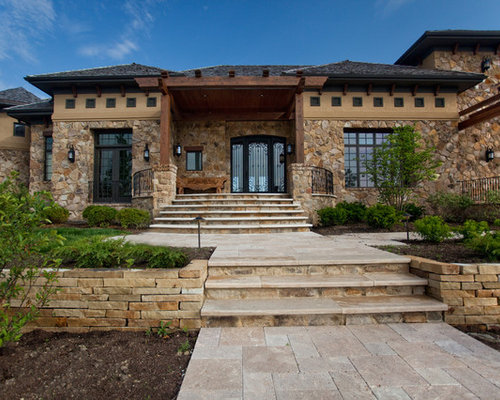 Tuscan Ranch Home Exterior Design Ideas Renovations Photos
