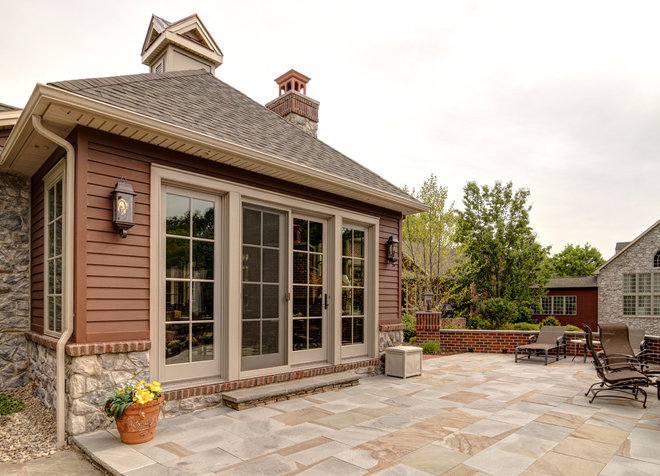 Traditional Exterior by Farinelli Construction Inc