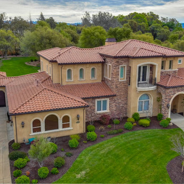 Two story addition to Mediterranean home Loomis CA