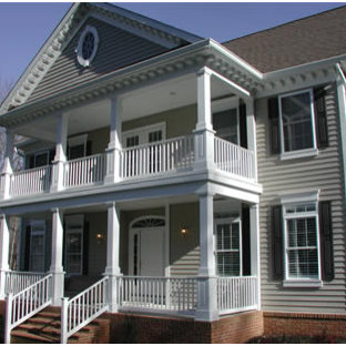 Two Story With Front Porch Houzz