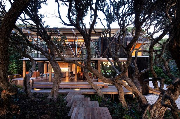 コンテンポラリー 家の外観 by Herbst Architects