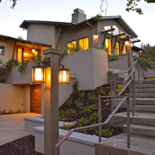 75 Contemporary Exterior With A Half-hip Roof Ideas