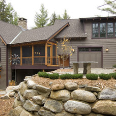 Rustic Exterior by Old Hampshire Designs Inc