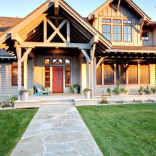 Farmhouse Exterior by Swanson Construction