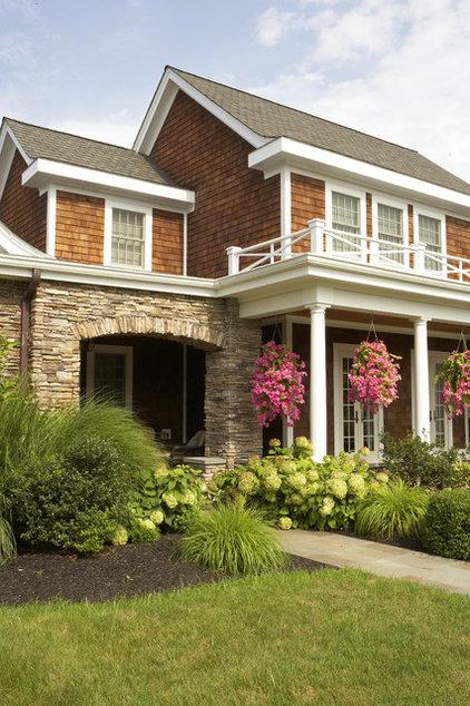 Traditional Exterior by Mari Kirwood Design Associates