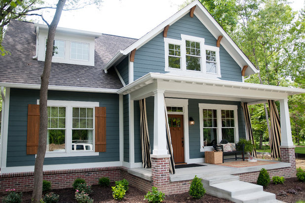 Transitional Exterior by Everything Home
