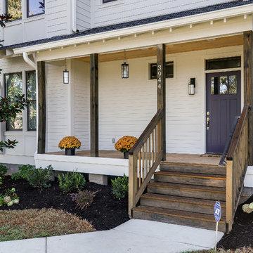 Urban Farmhouse - Dark Wood Stained Porch