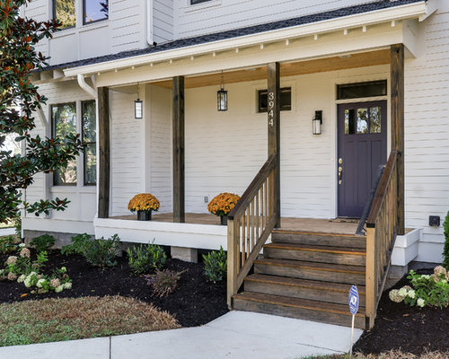 Front Door Colors With White House Brown Roof