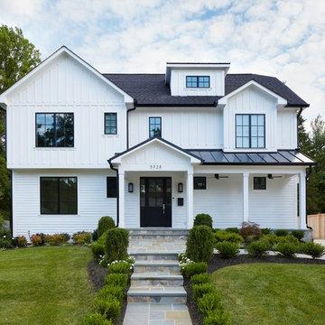 #urbanfarmhouse - White Farmhouse Exterior