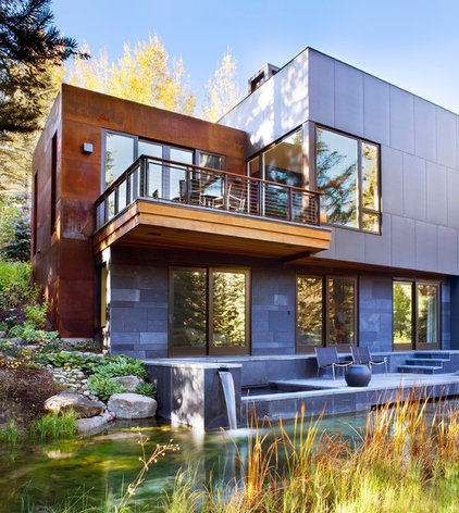 Contemporary Exterior by Alan Tanksley, Inc.