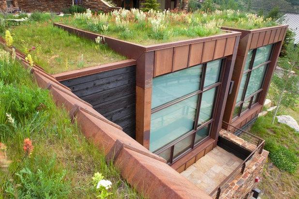 Moderne Façade by Coburn Design Build