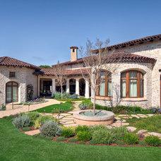 Mediterranean Exterior by Ron Herman Landscape Architect