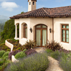 mediterranean exterior by Ron Herman Landscape Architect