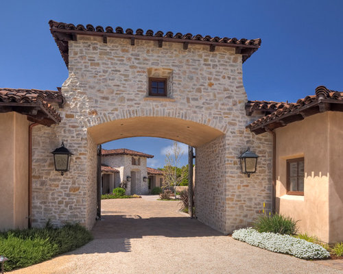Tuscan Stone Exterior Home Photo In San Francisco With A Tile Roof
