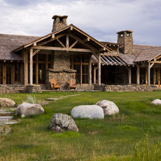 Rustic Exterior by White River Contracting