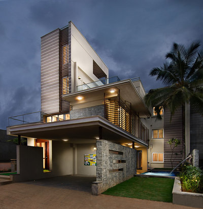 Contemporary Exterior by Adarsha Photography