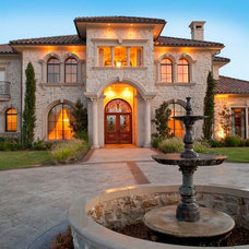 Mediterranean Exterior by Atrium Fine Homes