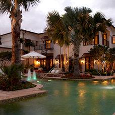 Tropical Exterior by Charlotte Dunagan Design Group