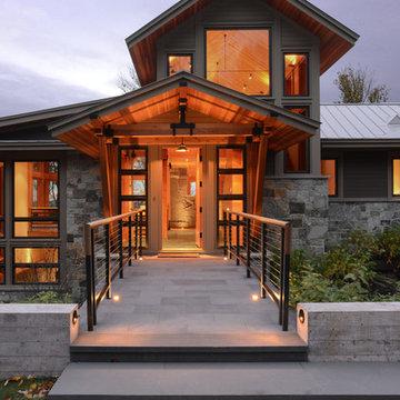 Vermont Mountain House Entry