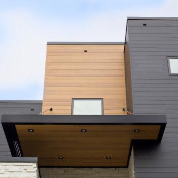 Vesta Plank Siding: Ironstone Solid, Gilded Grain Woodgrain