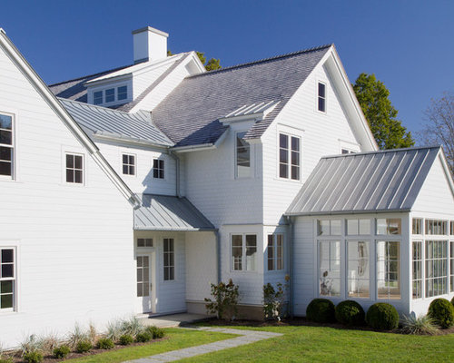 Grey metal roof houzz for Farmhouse metal roof