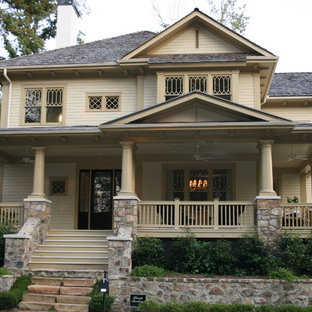 Victorian wood exterior home idea in Atlanta