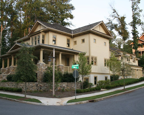 Beau Example Of A Classic Wood Exterior Home Design In Atlanta