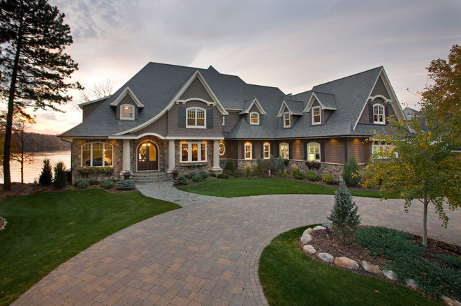 Traditional Exterior by Alexander Design Group, Inc.