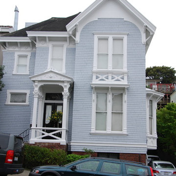 Victorian Home Exterior Painting Project - Front View After Photo
