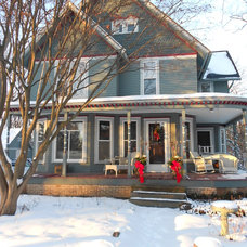 Traditional Exterior by Kathryn Peltier Design