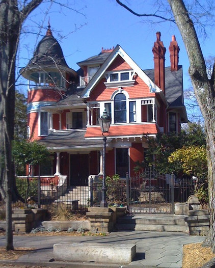 traditional exterior Victorian Houses in Inman Park Atlanta