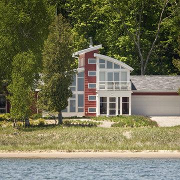 View of Sturgeon Bay home from Lake Michigan