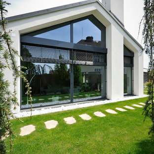 This is an example of a contemporary one floor exterior in Other.